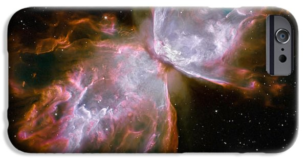 Luminous iPhone Cases - The Butterfly Nebula iPhone Case by Stocktrek Images
