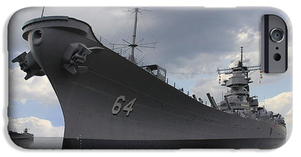 Battleship iPhone Cases - The Calm Before the Storm iPhone Case by Mike McGlothlen