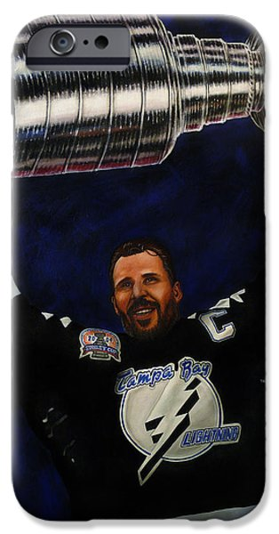 Hockey Paintings iPhone Cases - The Captain iPhone Case by Marlon Huynh