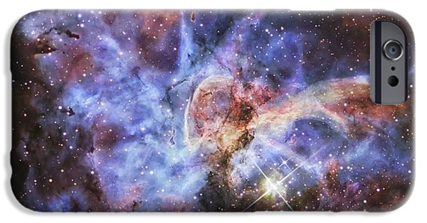 Starfield iPhone Cases - The Carina Nebula, Also Known As Ngc iPhone Case by R Jay GaBany