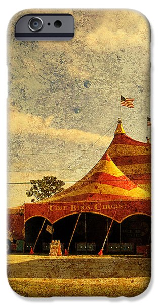 The Circus is in Town iPhone Case by Susanne Van Hulst