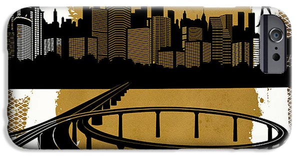 Commerce Digital iPhone Cases - The City 2 iPhone Case by Angelina Vick