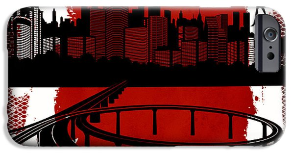 Commerce Digital iPhone Cases - The City 3 iPhone Case by Angelina Vick