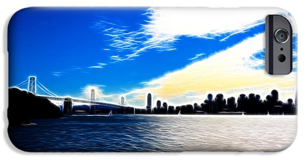 Bay Bridge iPhone Cases - The City By The Bay iPhone Case by Wingsdomain Art and Photography