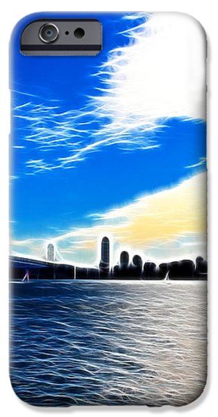 The City By The Bay iPhone Case by Wingsdomain Art and Photography