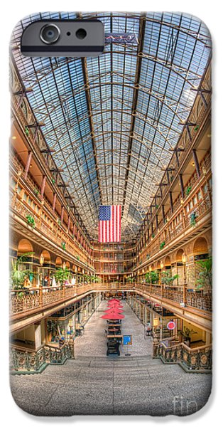 The Cleveland Arcade II iPhone Case by Clarence Holmes