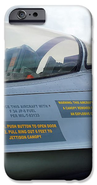 The Cockpit Of An F-16 Fighting Falcon iPhone Case by Luc De Jaeger