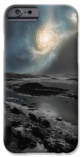 The Collision Of The Milky Way iPhone Case by Ron Miller