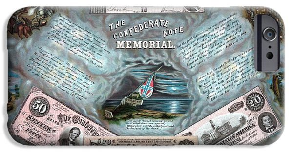 American History Mixed Media iPhone Cases - The Confederate Note Memorial  iPhone Case by War Is Hell Store