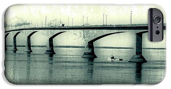 Prince iPhone Cases - The Confederation Bridge PEI iPhone Case by Edward Fielding