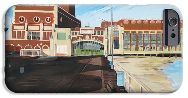 Asbury Park Paintings iPhone Cases - The Convention Hall  Asbury Park  iPhone Case by Patricia Arroyo