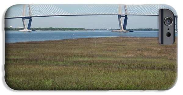 River View iPhone Cases - The Cooper River Bridge - Beauty and Simplicity iPhone Case by Suzanne Gaff