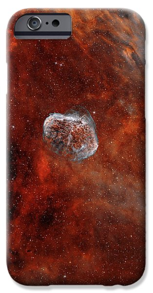 The Crescent Nebula With Soap-bubble iPhone Case by Rolf Geissinger