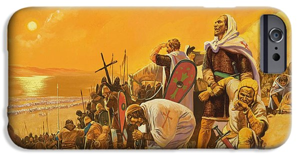 Harsh Conditions iPhone Cases - The Crusades iPhone Case by Gerry Embleton