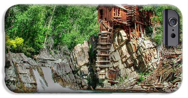 Grist Mill iPhone Cases - The Crystal Mill 1 iPhone Case by Ken Smith