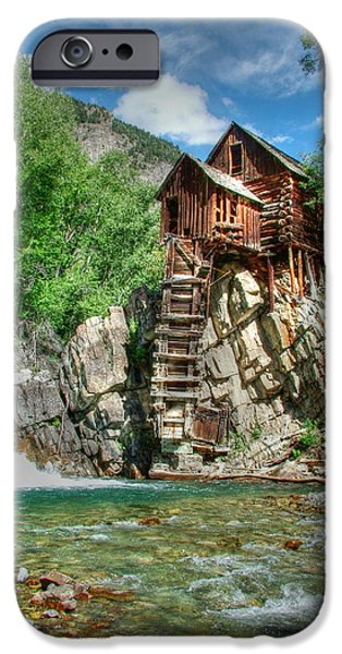 Grist Mill iPhone Cases - The Crystal Mill in Crystal Colorado iPhone Case by Ken Smith