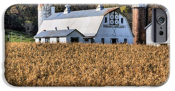 Maryland Barn Photographs iPhone Cases - The Dairy  iPhone Case by JC Findley