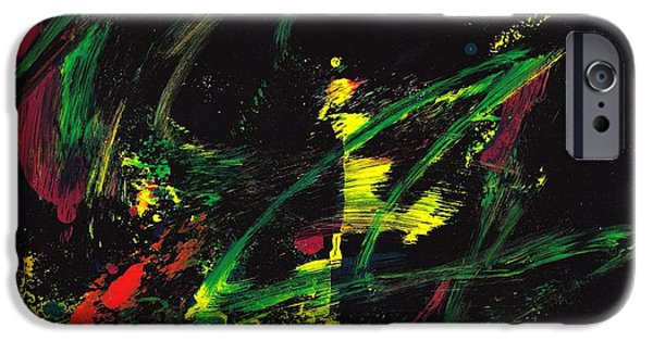 Swiss Mixed Media iPhone Cases - The Dancer iPhone Case by Manuel Sueess