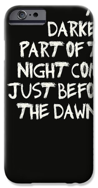 Batman Poster iPhone Cases - The Darkest Part of the Night iPhone Case by Nomad Art And  Design