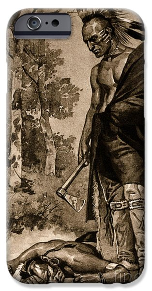 Empower iPhone Cases - The Death Of Pontiac, 1769 iPhone Case by Photo Researchers