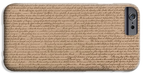 July 4th iPhone Cases - The Declaration of Independence iPhone Case by War Is Hell Store