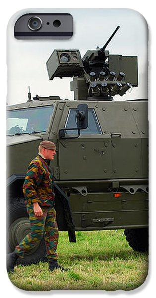 The Dingo Ii In Use By The Belgian Army iPhone Case by Luc De Jaeger