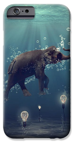 The dreamer iPhone Case by Martine Roch