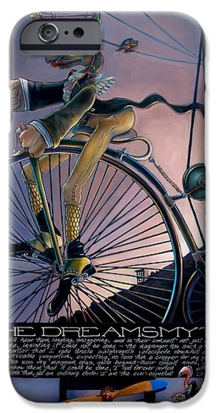 Umbrella Mixed Media iPhone Cases - The Dreamsmyth iPhone Case by Patrick Anthony Pierson