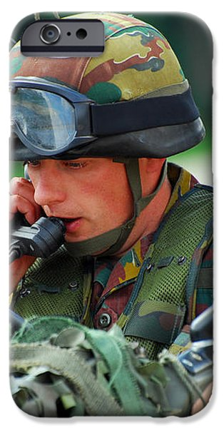 The Driver Of A Mortar Section iPhone Case by Luc De Jaeger