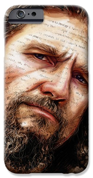 The Dude iPhone Case by Fay Helfer