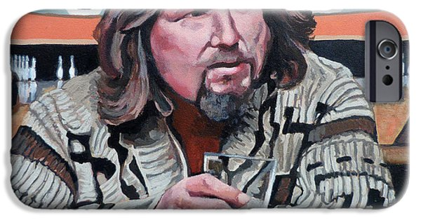 Dude Art iPhone Cases - The Dude iPhone Case by Tom Roderick