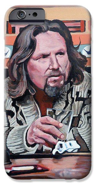 The Dude iPhone Case by Tom Roderick
