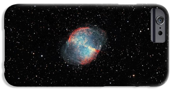 Constellations iPhone Cases - The Dumbbell Nebula iPhone Case by Rolf Geissinger