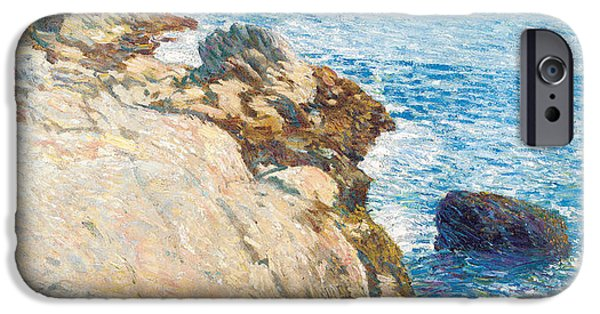 Maine iPhone Cases - The East Headland iPhone Case by Childe Hassam