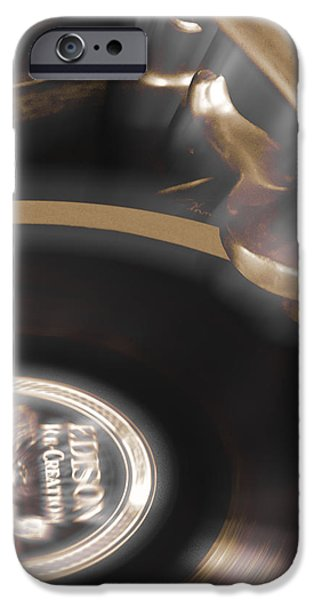 The Edison Record Player iPhone Case by Mike McGlothlen