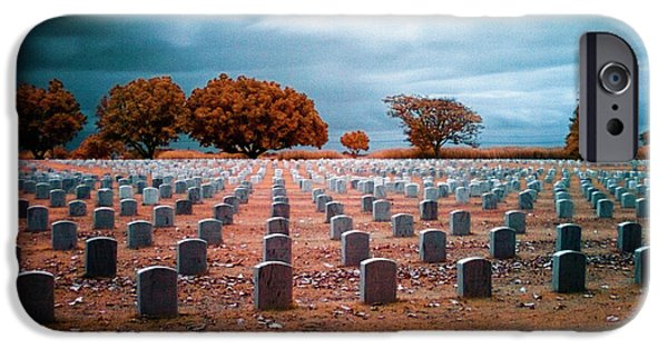 Headstones iPhone Cases - The End 2 iPhone Case by Skip Nall