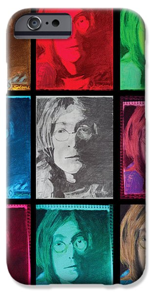 Abstract Digital Pastels iPhone Cases - The Essence of Light- John Lennon iPhone Case by Jimi Bush