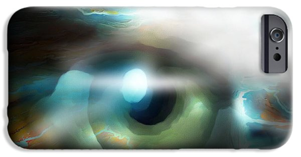 Eyes Digital Art iPhone Cases - The Eye Of The Storm iPhone Case by Bob Salo