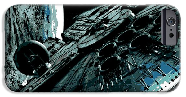 War iPhone Cases - the Falcon iPhone Case by George Pedro