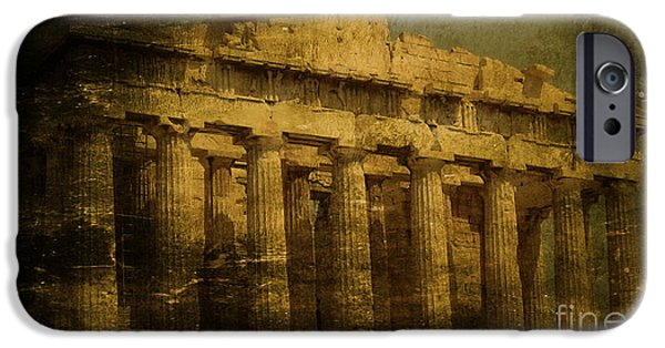 Temple Of Athena Nike iPhone Cases - The fall of Athens iPhone Case by Lee Dos Santos