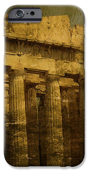 The fall of Athens iPhone Case by Lee Dos Santos