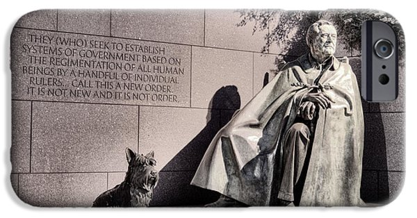 Franklin Photographs iPhone Cases - The FDR Memorial iPhone Case by JC Findley