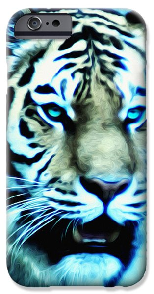 The Tiger iPhone Cases - The Fierce Tiger iPhone Case by Bill Cannon