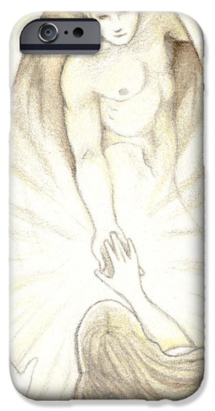 Aceo iPhone Cases - The Final Journey iPhone Case by Amy S Turner