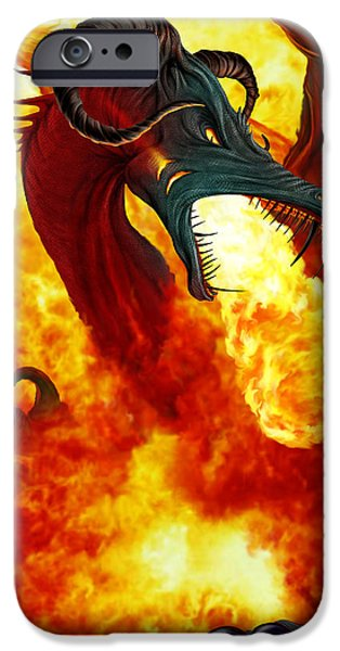 Recently Sold -  - Child iPhone Cases - The Fire Dragon iPhone Case by The Dragon Chronicles - Garry Wa