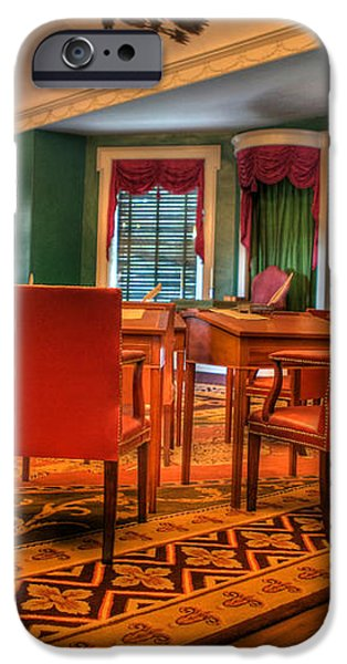 The First American Congress Senate Chamber - Independence Hall - Congress Hall -  iPhone Case by Lee Dos Santos