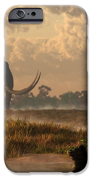 The First American Wildlife Artist iPhone Case by Daniel Eskridge