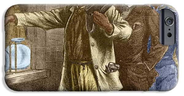 Escape iPhone Cases - The First Vote 1867 iPhone Case by Photo Researchers