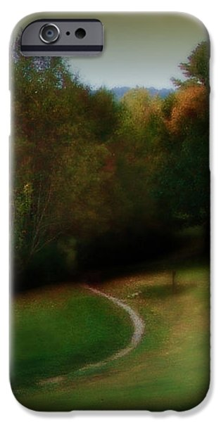 The First Walk of Fall iPhone Case by Lj Lambert