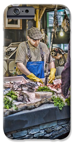 Animals Photographs iPhone Cases - The Fish Monger iPhone Case by Heather Applegate